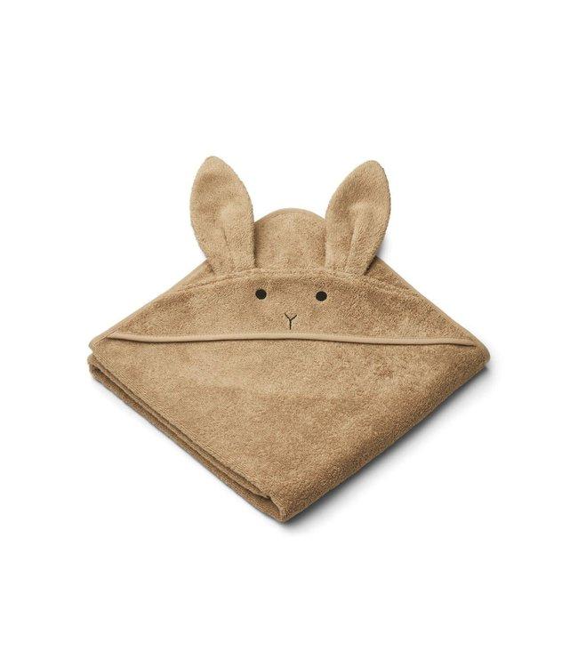Liewood Augusta hooded towel - rabbit oat