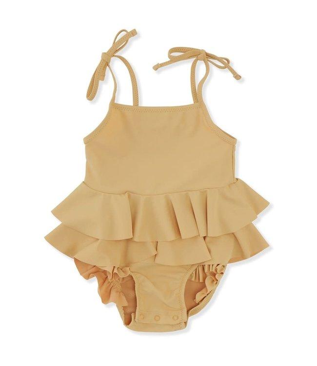 Konges Sløjd Manuca frill swimsuit - orange sorbet