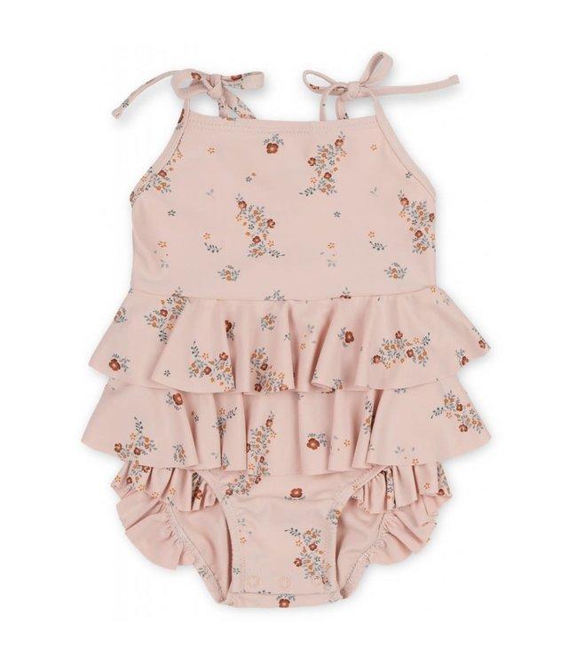 Konges Sløjd Manuca frill swimsuit - nostalgie blush