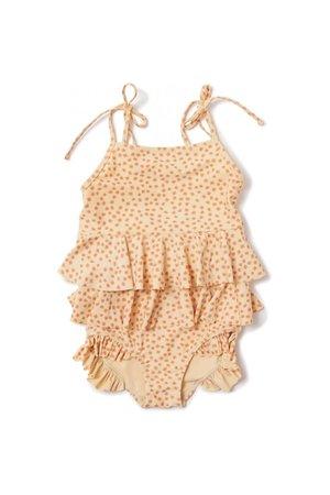 Konges Sløjd Manuca frill swimsuit - buttercup orange