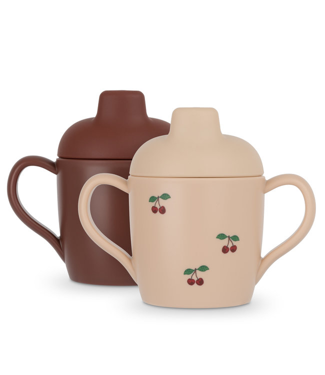 Konges Sløjd 2-Pack sippy cup - cherry