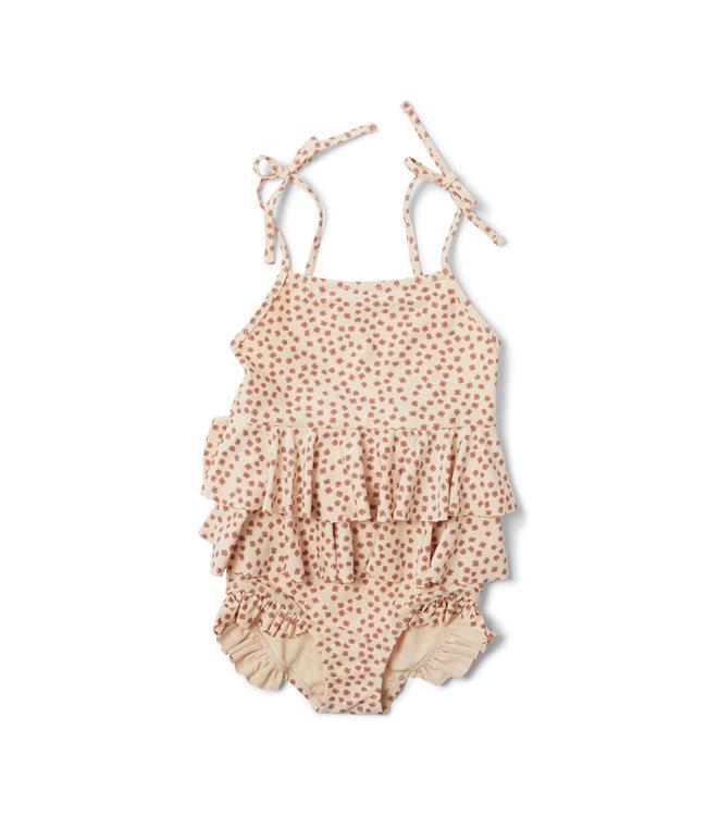 Konges Sløjd Manuca frill swimsuit - buttercup rosa