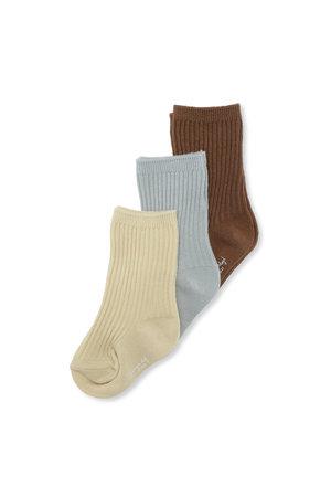 Konges Sløjd 3-Pack rib sokken - breen/mint/sahara sun