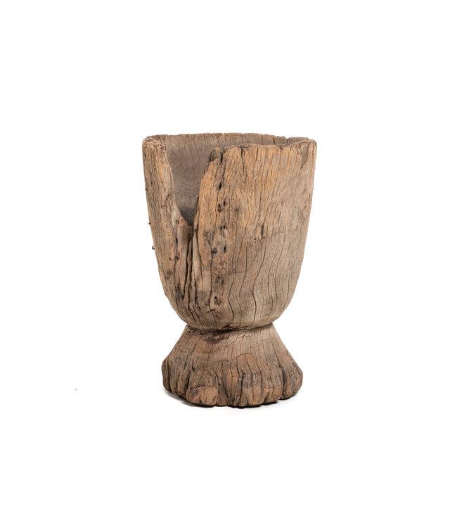 Oude houten vijzel Mossi #12