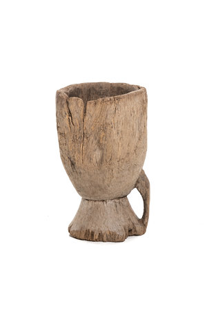 Old wooden mortar Mossi #13