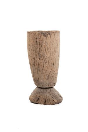 Oude houten vijzel Mossi #14
