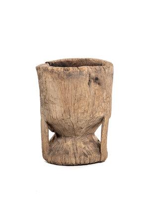 Oude houten vijzel Peul #9