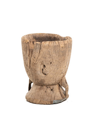 Old wooden mortar Peul #11