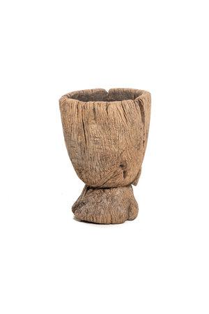 Old wooden mortar Peul #12