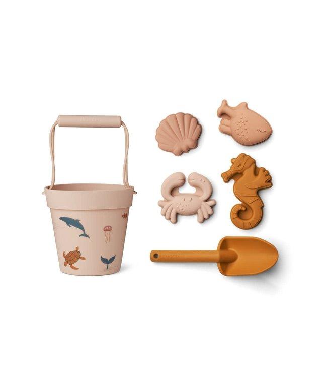 Liewood Dante beach set - sea creature rose multi mix