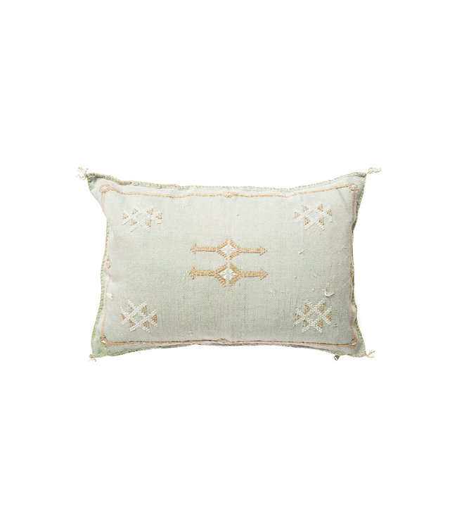 Sabra pillow green oblong