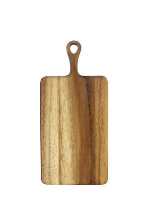 Acacia rectangular board with short handle -mini