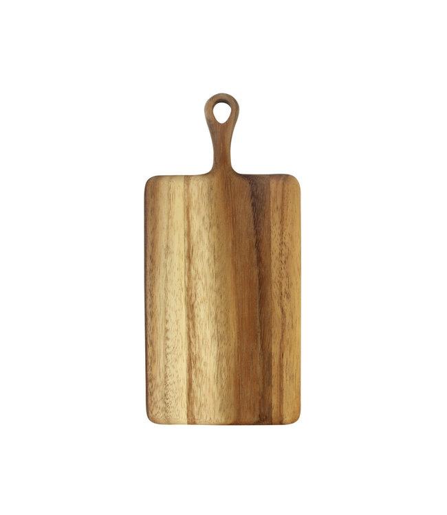 Acacia rechte plank met handvat - mini