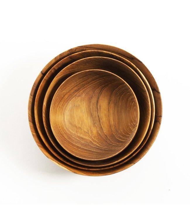 Teak nesting bowls - set of 4