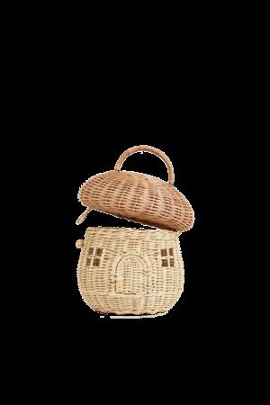 Olli Ella Rattan mushroom basket