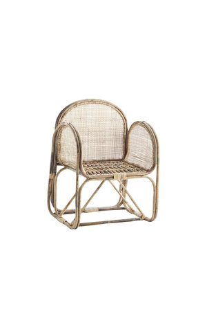 Bamboo chair with cane