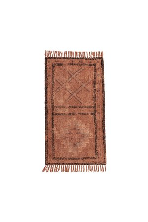 Tufted cotton runner with fringes - 140cm