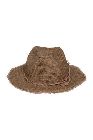 Made in Mada Elya hat - pink/tea