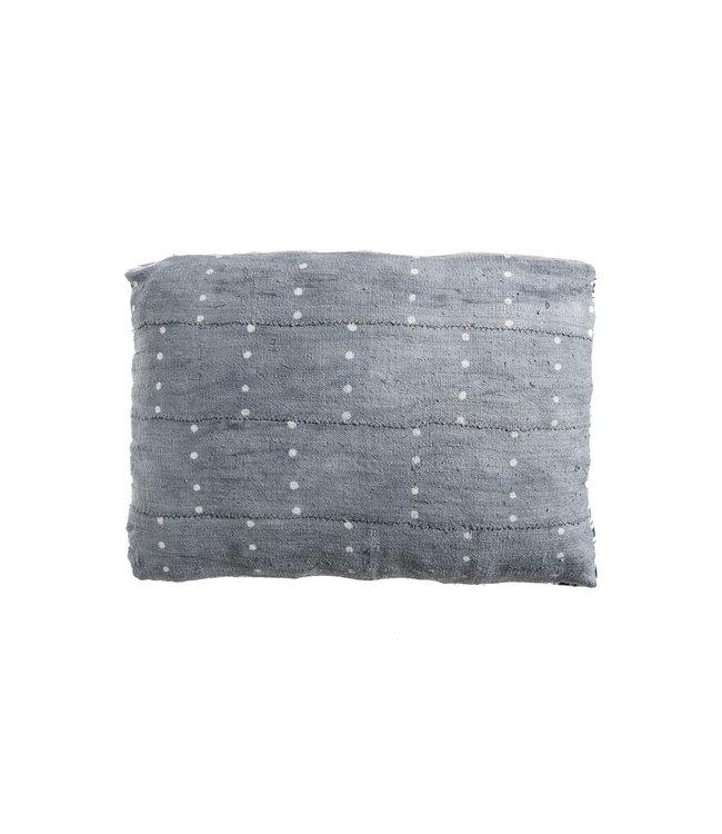 Bogolan cushion indigo #3