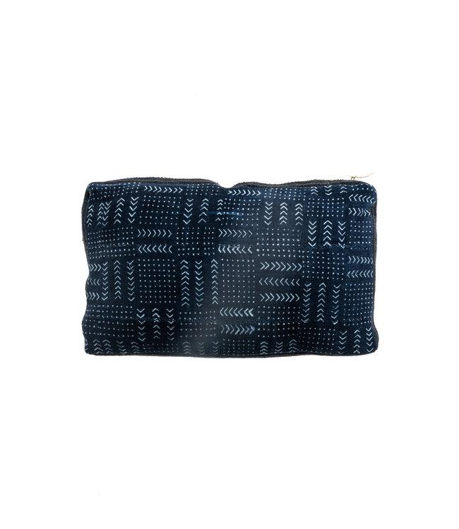 Bogolan cushion indigo #5