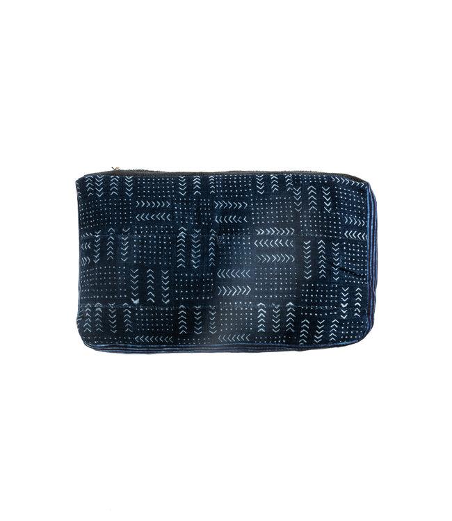 Bogolan cushion indigo #6