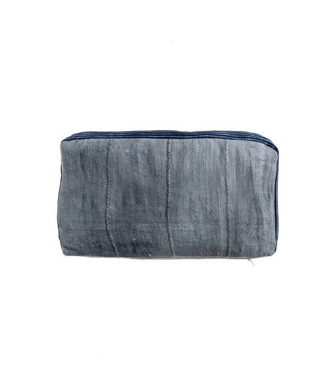 Bogolan cushion indigo #7