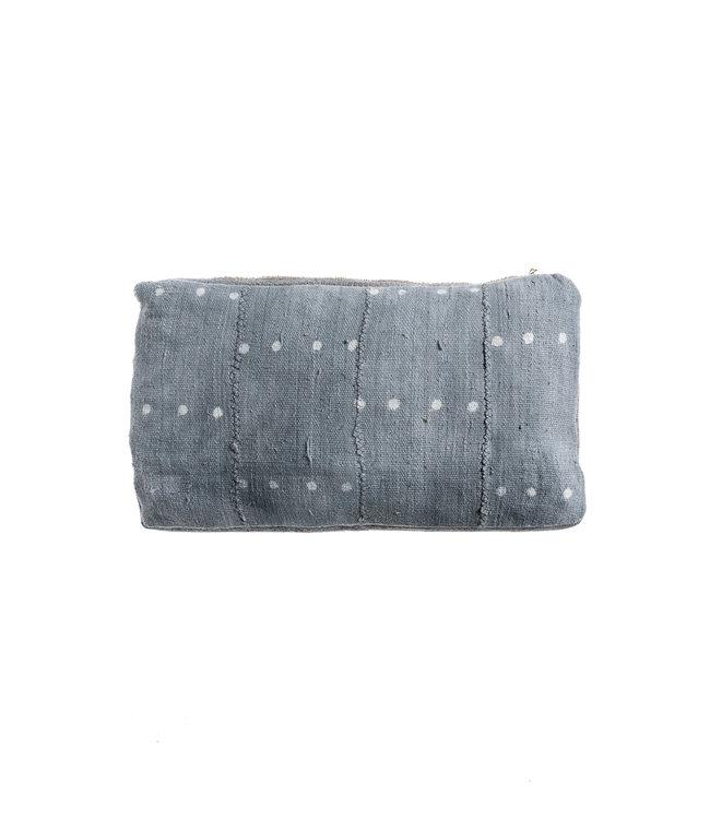 Bogolan cushion indigo #8