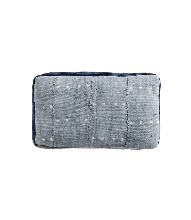 Bogolan cushion indigo #9