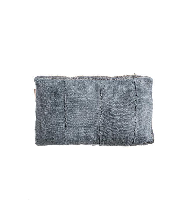 Bogolan cushion indigo #10