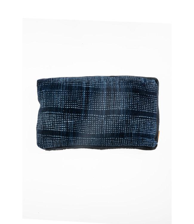 Bogolan cushion indigo #11