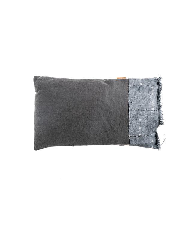 Bogolan cushion indigo #16