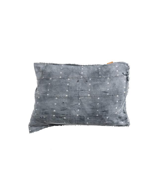 Bogolan cushion indigo #15