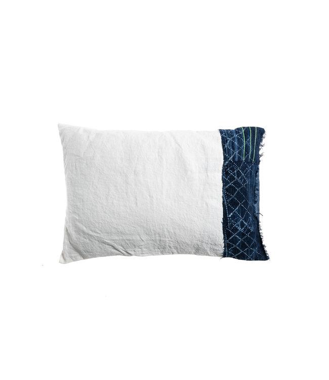 Bogolan cushion indigo #14