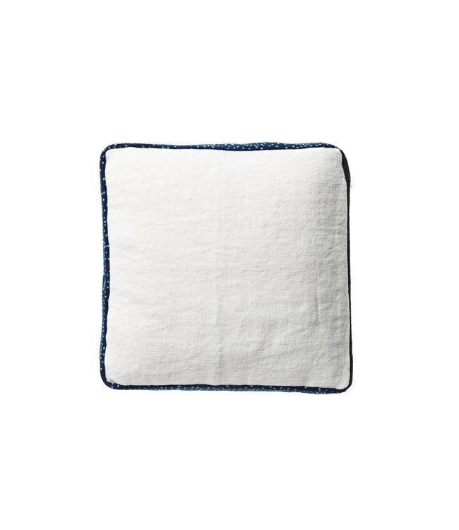Bogolan cushion indigo #2