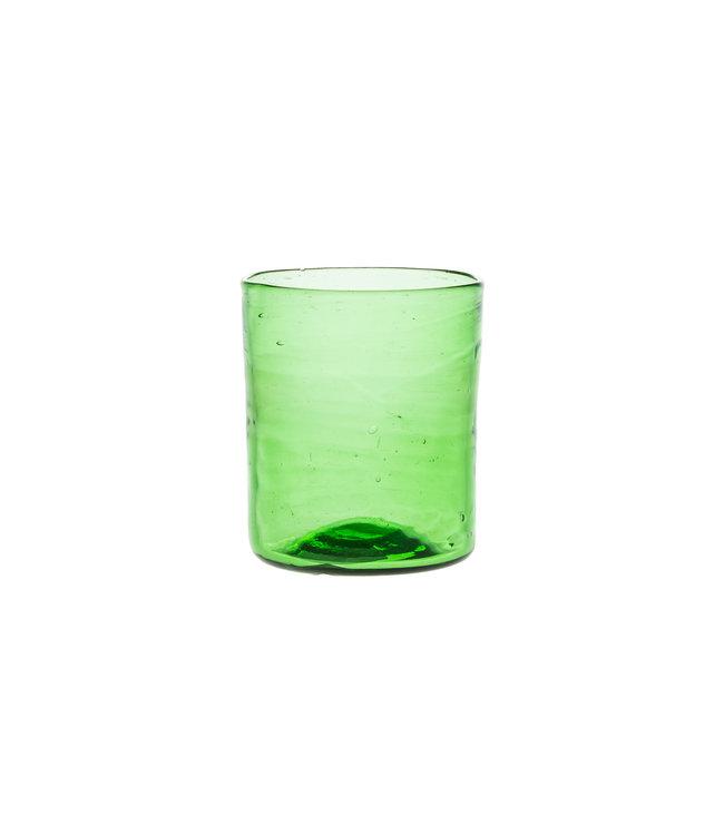 Mondgeblazen recht glas - groen