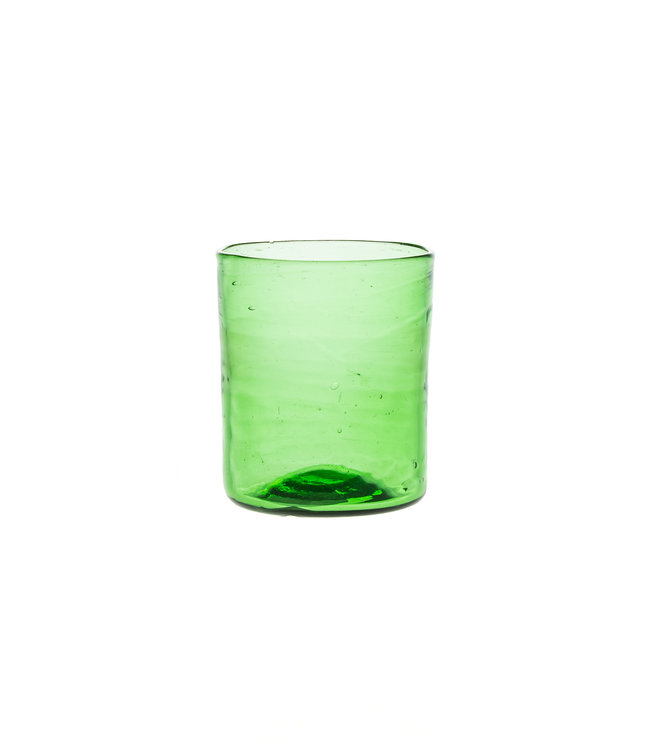 Mouth blown glass straight - green