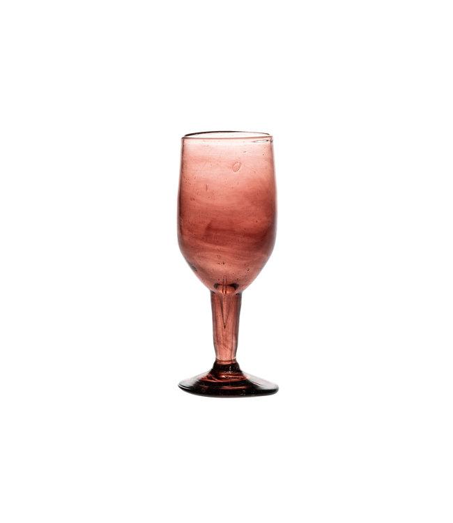 Mouth blown wine glass - bordeaux