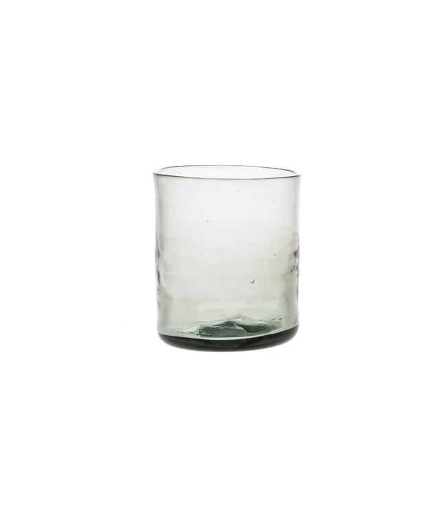 Mouth blown glass straight - grey