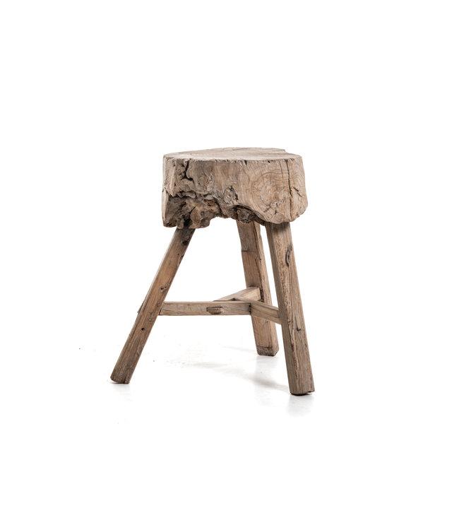 Trunk stool elm wood #18