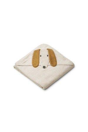 Liewood Augusta handdoek met capuchon - dog sandy