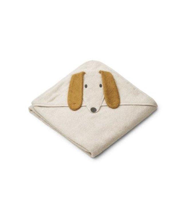 Liewood Augusta hooded towel - dog sandy