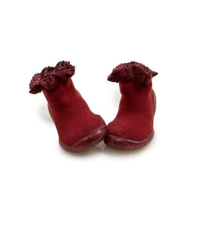 Collégien Slippers - mademoiselle red