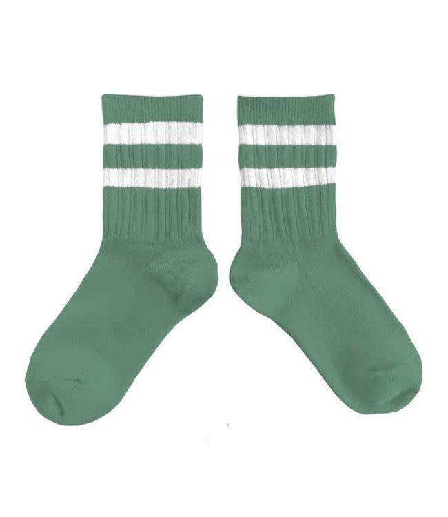 Collégien Nico - sokken streep  - céladon