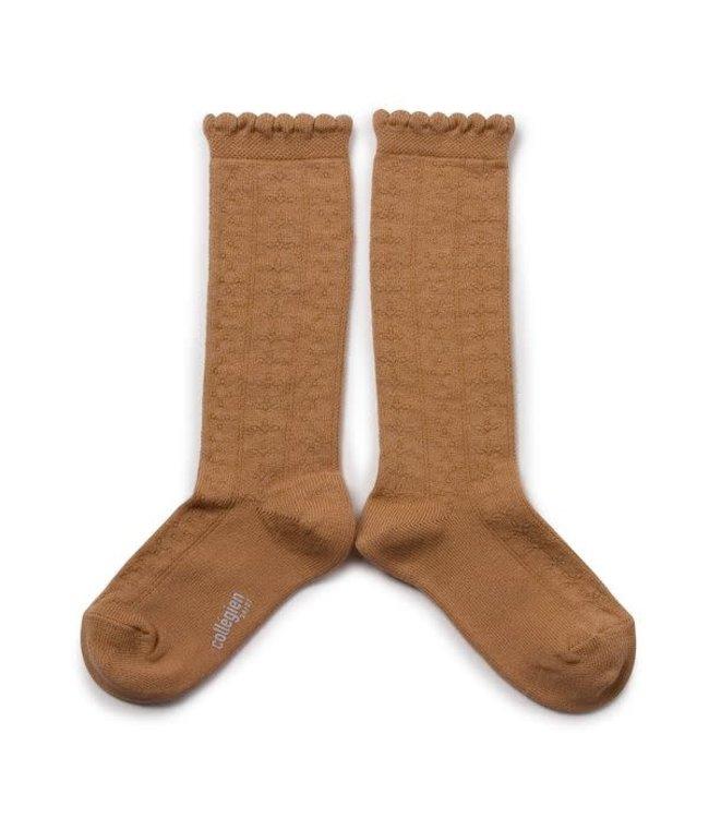 Collégien Juliette - high socks - caramel au beurre salé