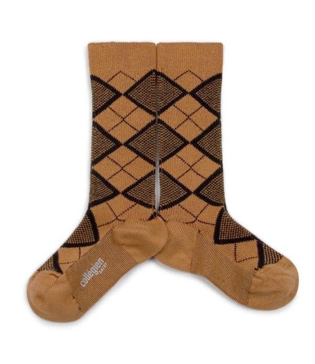 Collégien Back to the 70's - hoge sokken retro - caramel au beurre salé