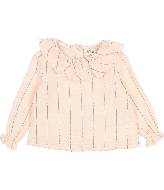 Baby check lurex blouse - rose