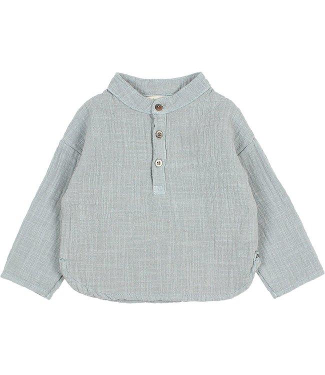 Buho Baby gauze shirt - storm grey