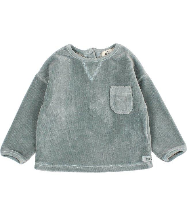 Baby velvet sweatshirt - storm grey
