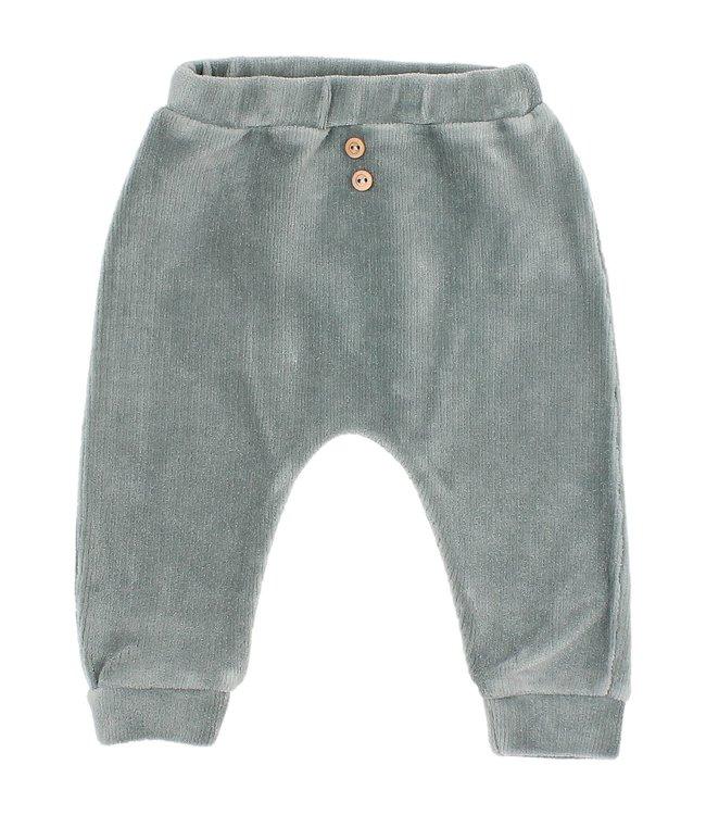 Buho Baby velvet pants - storm grey