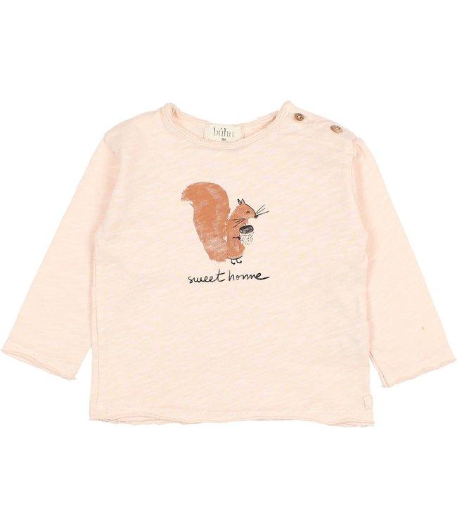 Squirrel t-shirt - rose